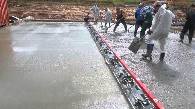 Заливка бетона виброрейкой рбу бетон расшифровка